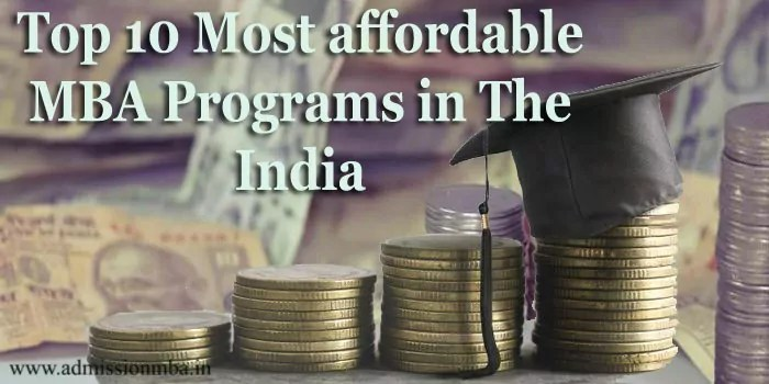 The Top 10 Most Affordable MBA Programs In India